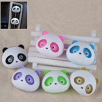 2Pieces Auto Dashboard Air Freshener Blink Panda Perfume Diffuser for Car