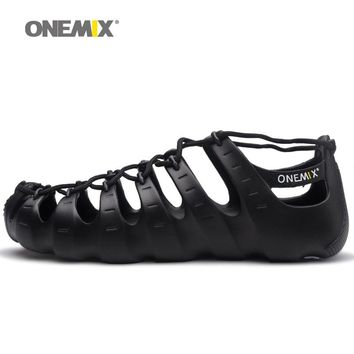 ONEMIX wading upstream shoes walking sneakers no glue environmentally friendly outdoor trekking walking shoes slippers sandals