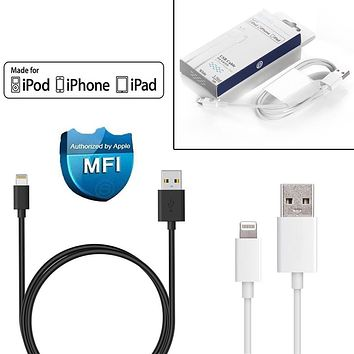Apple MFi Certified Lightning USB 1M Cable Charger For iPhone 5 5c 5s 6 6Plus