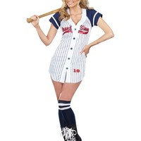 Adult Grand Slam Sexy Baseball Costume- Party City