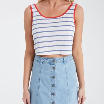 Boxy Cropped Ringer Tank | Wet Seal