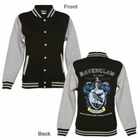 Ladies Black Harry Potter Ravenclaw Team Quidditch Varsity Jacket : TruffleShuffle.com