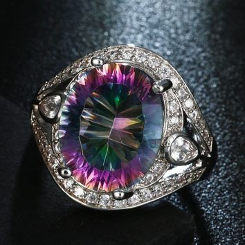 Womens .925 Sterling Silver Multicolor Color Changing Alexandrite