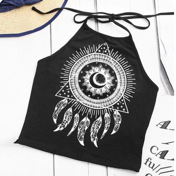 Peace Feather Triangle Tank Top