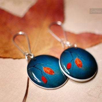 Colorful Autumn Dangle Earrings original by Goodthings88 on Etsy