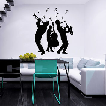 Jazz Group Concert Decal - Musicians Wall Decals Home Decor Vinyl Art Wall Decor Bedroom Music Studio Sound Recording Studio Decor SV5489