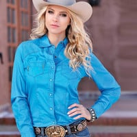 Cruel® Ladies' Cheyenne Solid Western Shirt