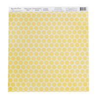 Yellow Large Dots Scrapbook Paper by Recollections®