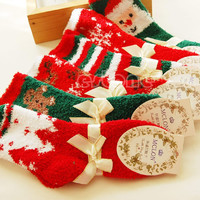 New Fashion 1 Pair Christmas Woman Men Warm Soft Winter Cozy Socks New Year Gift