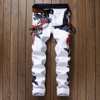 Men's Straight Colored Jeans
