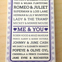 Me and You (and Famous Couples) phone case, #love, #famous, iPhone 5 or iPhone 5S case