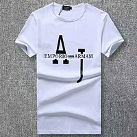 Emporio Armani Woman Men Fashion Casual Letter Shirt Top Tee