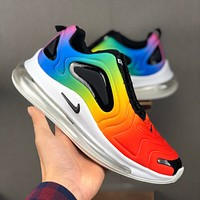 Nike Air Max 720 White Black Multi Running Shoes - Best Deal Online