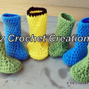 CROCHET PATTERN Baby Boots INSTANT Download / Crochet Booties Pattern /  Crochet Photo prop Baby Boots / Crochet baby bootie pattern / Boots