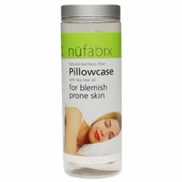 NuFabrx Natural Bamboo Fiber Pillowcase for Blemish Prone Skin, White
