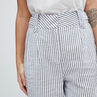Y.A.S Stripe Summer Suit Trouser Co-Ord at asos.com