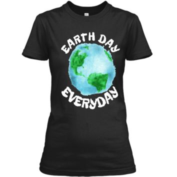 Earth Day Shirt Everyday Conservation Plant Nature Lover Tee Ladies Custom