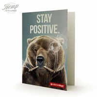STAY POSITIVE BEAR HEMP CARDS