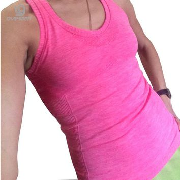 Summer Style Casual Loose Women's Fitness Tank Top Breathable Women Gyming Clothing Comfortable Quick-drying Vest