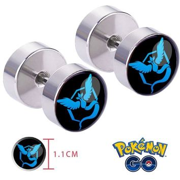 Go Team Mystic Articuno Ear Ring ear stud earrings Cosplay Otaku collectionKawaii Pokemon go  AT_89_9