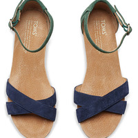 TOMS Navy Galapagos Correa Suede Sandal | zulily