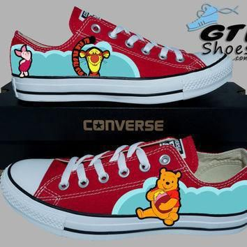 hand painted converse lo winnie the pooh tigger and piglet handpainted shoes