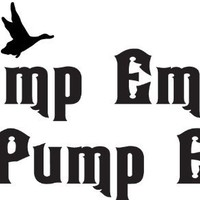 "Jump Em N Pump Duck Hunting Hunt Decal/sticker 6"" White"