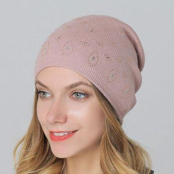 ac PEAPON Ladies Knit Winter Double-layered Wool Hot Sale Hats [110448803865]