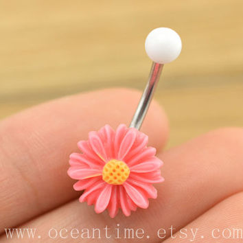 little daisy Belly Button jewelry,little daisy Navel Jewelry, belly button ring,girlfriend gift,daisy belly ring