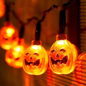LED String Lights 20 Pumpkin Ghost 2M for Halloween Decoration Party Indoor Outdoor STD6051