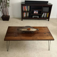 Industrial Coffee Table - Hairpin Legs - Living Room Furniture