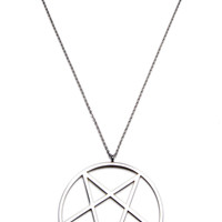 Kill Star Pentagram Necklace Silver One