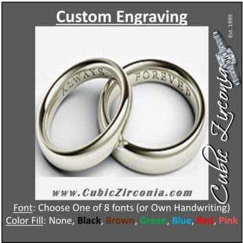 Custom Engraving for Rings, Wedding Bands, Cufflinks, Bracelets and More
