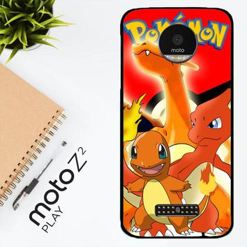 Charizard Pokemon Z2216 Motorola Moto Z2 Play Case
