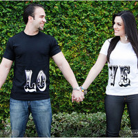 His and Her L.O.V.E. T-shirts- FOLLOW ME N ENJOY<3