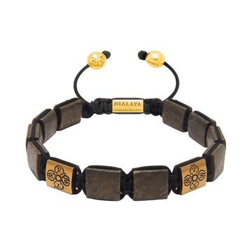 The Dorje Flatbead Collection - Hematite and Gold