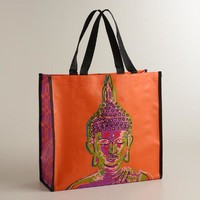 Orange Buddha Tote Bag