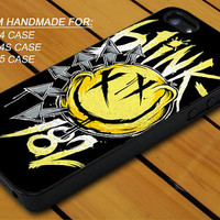 Blink 182 Logo - iPhone 4 / 4s or iPhone 5 Case - Hard Case Print - Black or White Case - Please leave message