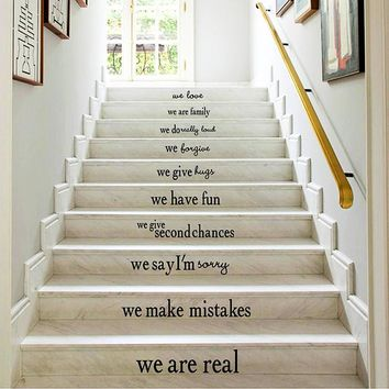 Removable Wall Decoration Stairs Floor Decal