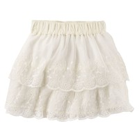 Carter's Floral Lace Tiered Skirt - Toddler Girl, Size: