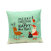 Christmas Pillow Cover Vintage Pillowcase Christmas Decorations for Home 2016  Feliz Navidad Decoracion Kerst Pillow Covers