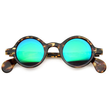 Vintage Inspired Small Round Mirror Lens Sunglasses 9777