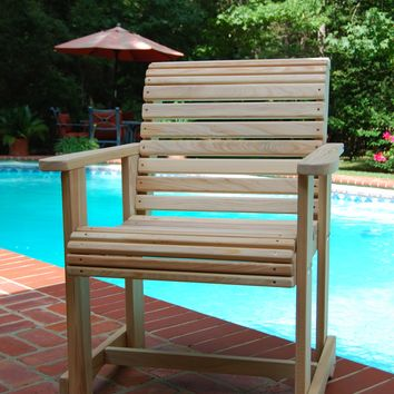 LA Swings Inc 2ft cypress Roll Back Outdoor Chair - Lead Time 5-7 Business Days