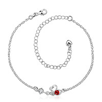 Ruby Red Mini Butterfly Classic Anklet