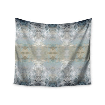 "Pia Schneider ""Heavenly Bird III"" Blue Pattern Wall Tapestry"