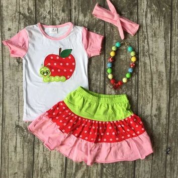 Back To School Little Worm Skirt Outfit