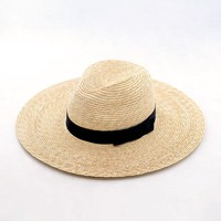 Muchique Fine Straw Panama Hats for Women Top Quality Trilby Hat  Safari Hats Summer Beach Sun Hats