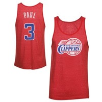 Majestic Threads Chris Paul Los Angeles Clippers Player Tri-Blend Tank Top - Red