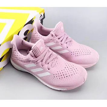 Adidas ULTRA Boost Fashion New Mesh Women Running Shoes Pink