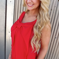 Classy Red Bow Tank | The Rage